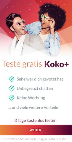koko app 3 tage kostenlos